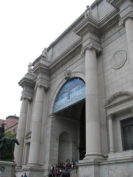 Stately entrance to the American Museum of Natural History, New York, NY.