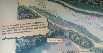 One of the many informative signs at Dinosaur Valley State Park, Glen Rose, TX.