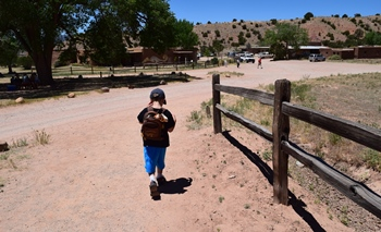 Beginning our hike at Ghost Ranch, Abiquiu, NM.