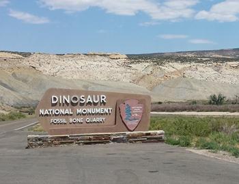 Entrance to Dinosaur National Monument, Vernal, UT.
