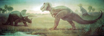 Charles R. Knight's most famous painting, The Field Museum, Chicago, IL.