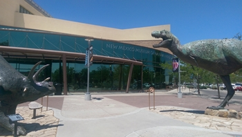 Sculptures outside the New Mexico Museum of Natural History, Albuquerque, NM.
