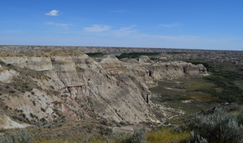 The badlands of Dinosaur Provincial Park, Alberta, Canada.