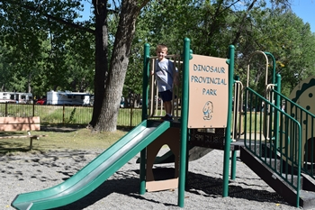Playground at Dinosaur Provincial Park, Alberta, Canada.