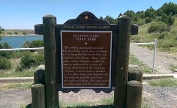 Entrance to Clayton Lake State Park, Clayton, NM.