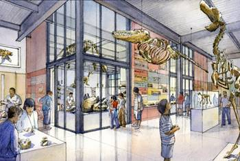 Depiction of the new Burke Museum of Natural History and Culture, University of Washington, Seattle, WA.