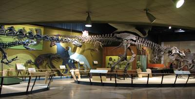 The Kirtland Hall of Prehistoric Life at the Cleveland Museum of Natural History, Cleveland, OH.