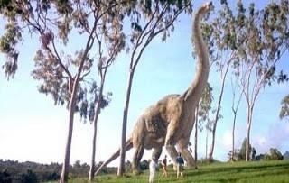 Brachiosaurus scene from Jurassic Park, Universal.