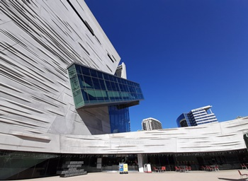The Perot Museum of Nature and Science, Dallas, TX. Photo credit: John Gnida.